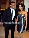 Actress Mallika Sherawat with Laz Alonso (3)