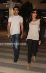 Katrina Kaif   and Ranbir returns from Rajneethi Dubai Promotions