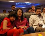 gautami with daughter subbulakshmi and Kamal Hassan (2)