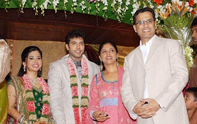 Nadhya At Jayam Ravi And Aarthy Wedding Reception