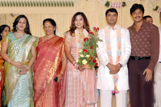 Meena Wedding Reception Srikanth At Actress Indian Bollywood South Movie Photo Gallery