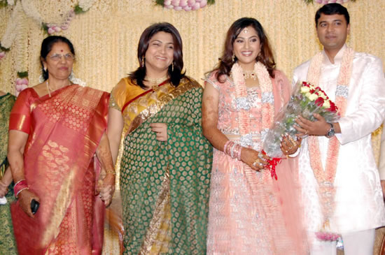 Meena Wedding Reception Kushboo At Actress Indian Bollywood South Movie Photo Gallery