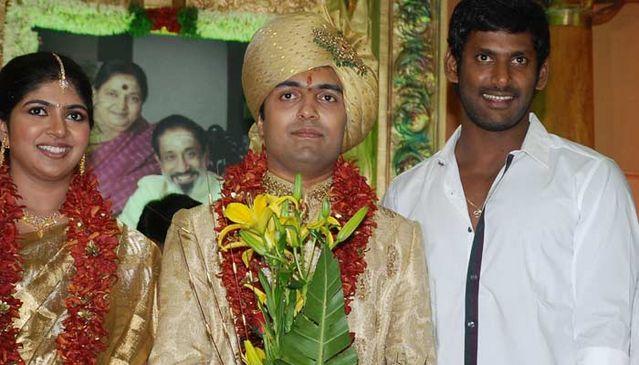 prabhu daughter aishwarya wedding vishal actor prabhu