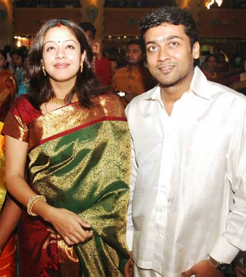 Photo Gallery - Surya/Jyothika and Surya at Actor Prabu son Vikram ...