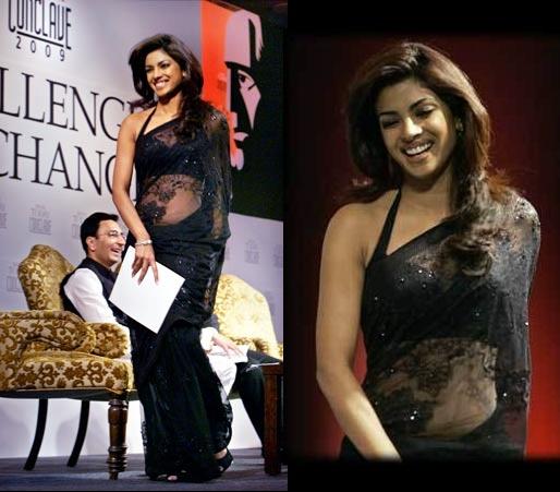 Priyanka chopra in backless saree from dostana movie wallpaper