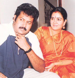 Actress Urvashi and Actor Manoj K Jayan
