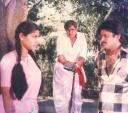 Actor Pandian with Visu and Ranjani