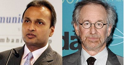 Anil Dhirubhai Ambani,Steven Spielberg, Releiance Big Entertainment, DreamWorks