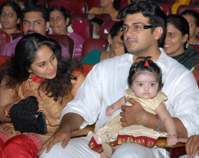 Ajit Shalini daughter Anushka Baby First Outing,Ajit daughter Anushka, baby Anushka, Ajit Kumar