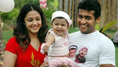 Jyothika and Surya celebrate Diya's first birthday , Jyothika Surya Diya's first birthday