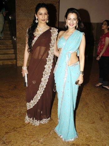 Amisha Patel At Shilpa Shetty And Raj Kundra Wedding Reception
