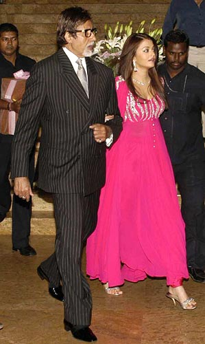 Amitabh And Aishwarya Rai At Shilpa Shetty Raj Kundra Wedding Reception