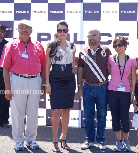 Chairman_aeromoedlers_meet_Umesh_More__Neha_Dhupia_Haresh_Chainani_at_Police_Timespiece_Collection_launch_at_Aamby_Valley.jpg