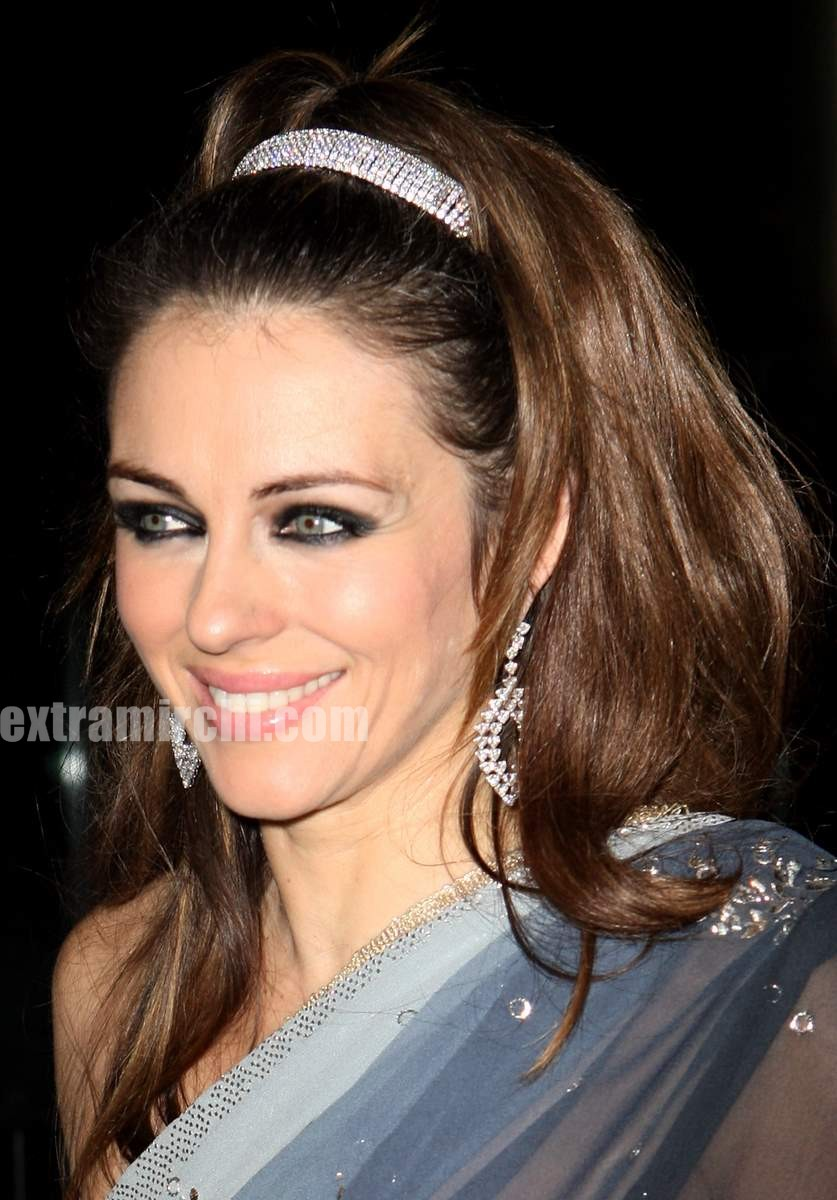 Liz hurley in a see through saree 1 jpg