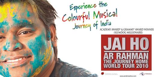 A R Rahman Jai Ho World Tour In Usa Tour Dates