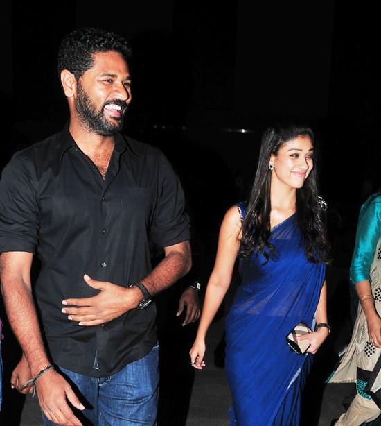 Prabhu Deva and Nayantara Spotted at South Scope Awards ...